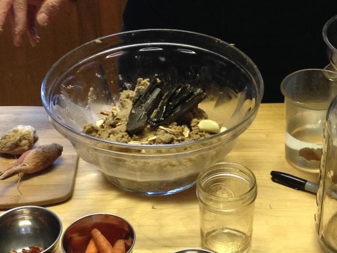 Hayes making a nuka-zuke pot at Ferment! Ferment!