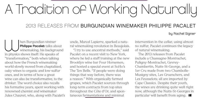 Interviewing the Legendary Winemaker PhilippePacalet