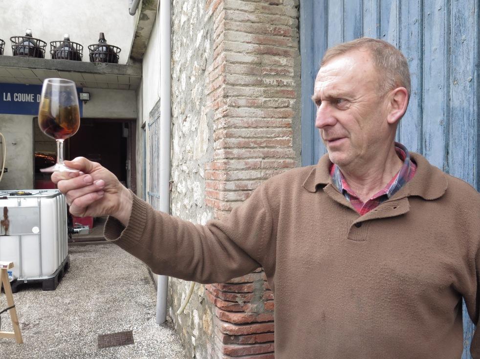 tasting 1880 Maury wine at Domaine La Coume de Roy