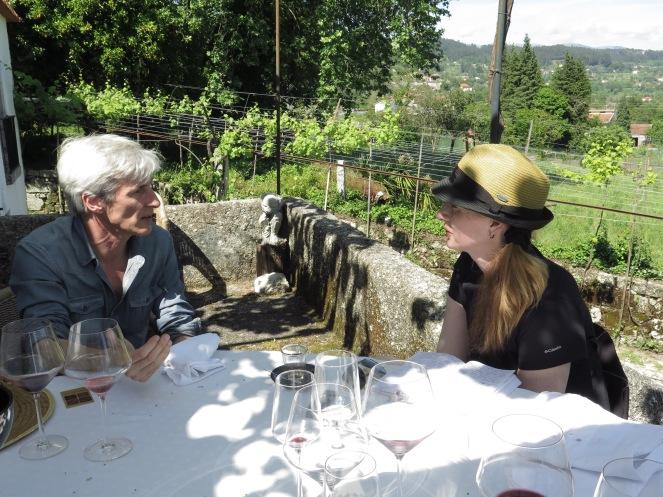 Wine writer Meg Houston Maker engages Vasco in questions of anthroposophy